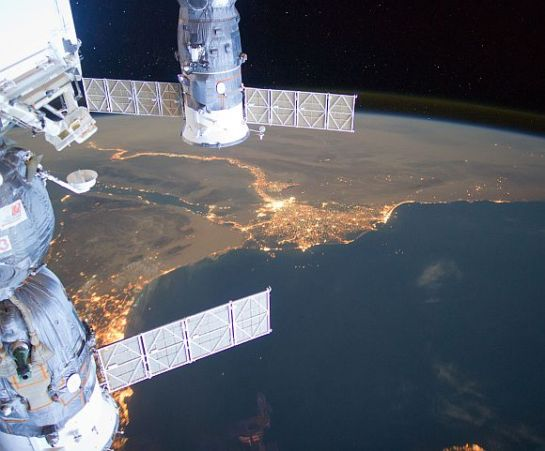 Middle East from outer space looks amazing.