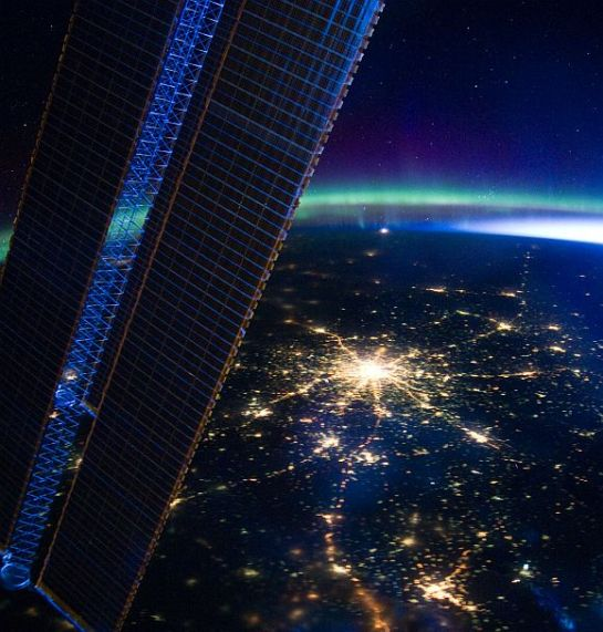 Its Russia Moscow from International space station