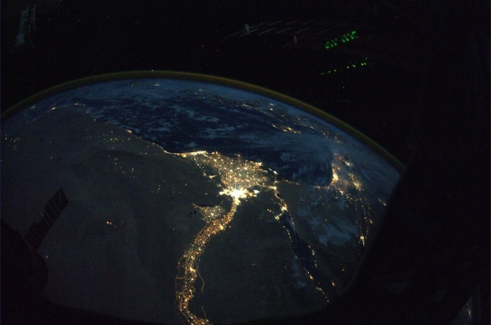 Nile River in Egypt during Night