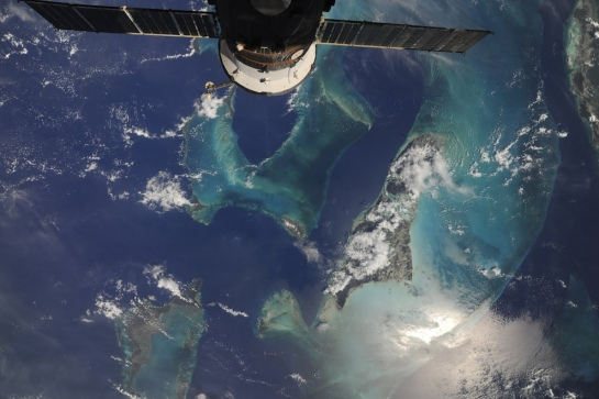 Bahamas from space.