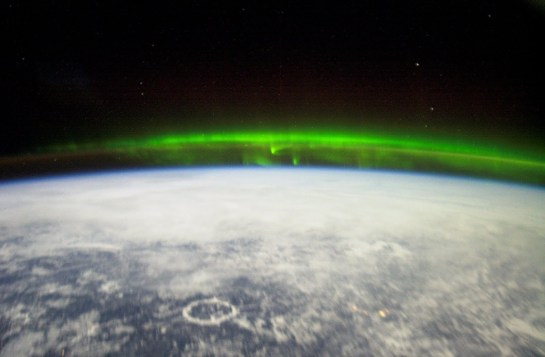 Aurora Borealis as viewed from the International Space Station Expedition 6